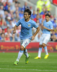Manchester City's David Silva  - Photo mandatory by-line: Joe Meredith/JMP - Tel: Mobile: 07966 386802 25/08/2013 - SPORT - FOOTBALL - Cardiff City Stadium - Cardiff -  Cardiff City V Manchester City - Barclays Premier League