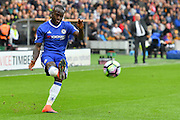 Chelsea midfielder Victor Moses (15) crosses ball  during the Premier League match between Hull City and Chelsea at the KCOM Stadium, Kingston upon Hull, England on 1 October 2016. Photo by Ian Lyall.