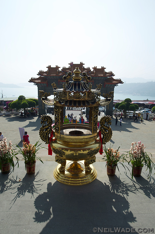 The beautiful Wenwu Temple in Sun Moon Lake, Taiwan.