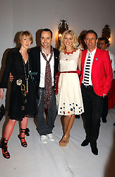 Left to right, FRANCESCA AIR, DAVID FURNISH, DONNA AIR and PATRICK COX at the Moet & Chandon Fashion Tribute 2005 to Matthew Williamson, held at Old Billingsgate, City of London on 16th February 2005.<br />