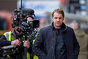 Robbie Neilson, manager of Dundee United FC makes his way to the dugout before the William Hill Scottish Cup quarter final match between Dundee United and Inverness CT at Tannadice Park, Dundee, Scotland on 3 March 2019.