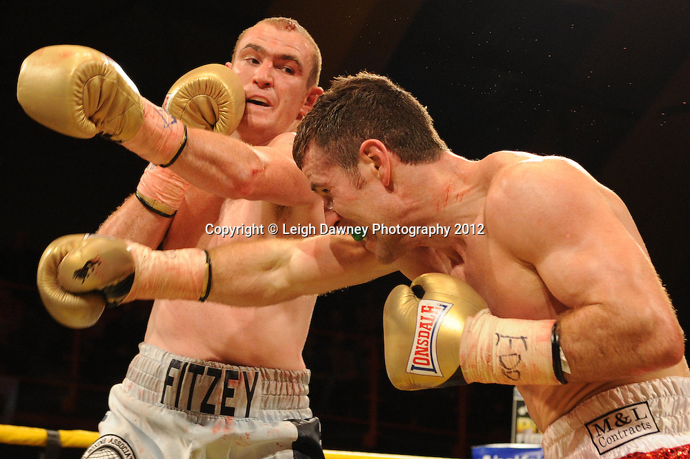 Eamonn O'Kane defeats Anthony Fitzgerald Quarter Final one at Prizefighter Middleweights, Kings Hall, Belfast, Northern Ireland on 5th May 2012. Promoted by Prizefighter/Matchroom Sport. © Leigh Dawney Photography 2012.
