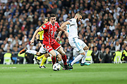 Thomas Muller (Bayern Munich) and Karim Benzema ( Real Madrid) during the UEFA Champions League, semi final, 2nd leg football match between Real Madrid and Bayern Munich on May 1, 2018 at Santiago Bernabeu stadium in Madrid, Spain - Photo Laurent Lairys / ProSportsImages / DPPI