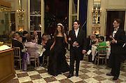 Princess Irina Strozzi and her escort Grand Duc Gueorguy de Russie. Crillon Haute Couture Ball. Crillon Hotel, Paris. 2 December 2000. © Copyright Photograph by Dafydd Jones 66 Stockwell Park Rd. London SW9 0DA Tel 020 7733 0108 www.dafjones.com