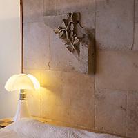 Hotel room at the Relais & Chateaux La Cote Saint-Jacques in Joigny.
