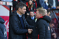 Football - 2017 / 2018 Premier League - AFC Bournemouth vs. Southampton<br /> <br /> Bournemouth's Manager Eddie Howe shakes hands with Southampton Manager Mauricio Pellegrino before kick off at Dean Court (Vitality Stadium) Bournemouth <br /> <br /> COLORSPORT/SHAUN BOGGUST