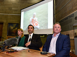 Pictured: Katie's mum, Linda Allan at the press conference, supported by Katie's dad Stuart Allan and solicitor Aamer Anwar.<br /> <br /> The family of Katie Allan, who committed suicide in Polmont Young Offenders Institute in June after pleading guilty to drink driving and causing injury thru dangerous driving, launched a campaign calling for more awareness of mental health issues within the justice system, after it was claimed the 21 year old suffered daily bullying leading up to her death.<br /> <br /> &copy; Dave Johnston / EEm