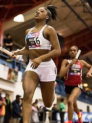 New Balance High School National Indoor Track & Field Championships: girl's 4x200 relay, Green