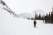 Jake Hirschi hiking into Reid's Peak, Uintas, Utah