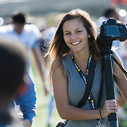 Behind the scenes with Sports Shooter Academy 13 participants at Orange Coast College football stadium on November 5, 2016 in Costa Mesa, California.  The Sports Shooter Academy Workshops are sponsored by Nikon Professional Services.  ©2016 Michael Der / Sports Shooter Academy 13 Behind the Scenes with the cast and crew of Sports Shooter Academy.