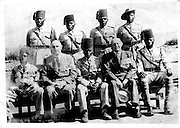 As the backbone of the King's African Rifles, Nubians fought in WWI against the Germans, and in WWII in places like Somalia, Abyssinia, Madagascar and Burma, playing a vital role in the defense and development of Kenya and East Africa.  King's African Rifles, circa 1930s.