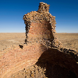 022713       Brian Leddy<br /> Towering above the landscape, the tower kiva at Kin Ya'a stands 31 feet above the ground. The complex is a Chacoan outlier that lies 25 miles southwest of Chaco Canyon.