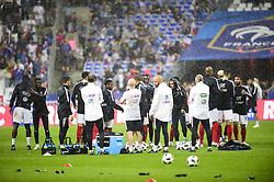 May 28, 2018 - St Denis, France, France - echauffement de l equipe de France sous la pluie (Credit Image: © Panoramic via ZUMA Press)