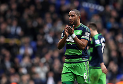 Ashley Williams of Swansea City looks dejected at full time after the defeat to Tottenham Hotspur - Mandatory byline: Robbie Stephenson/JMP - 28/02/2016 - FOOTBALL - White Hart Lane - Tottenham, England - Tottenham Hotspur v Swansea City - Barclays Premier League