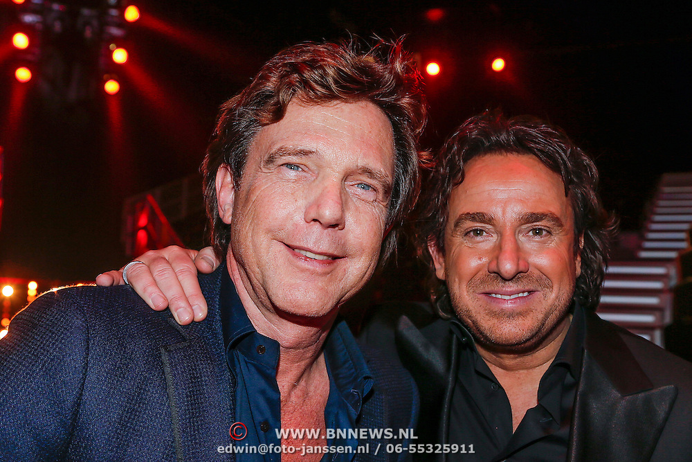 NLD/Hilversum/20121214 - Finale The Voice of Holland 2012, John de Mol en Marco Borsato