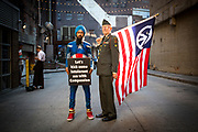 Vishavjit Singh and Lou Humphrey. The Republican National Convention in Cleveland, where Donald Trump is nominated as the republican presidential candidate.