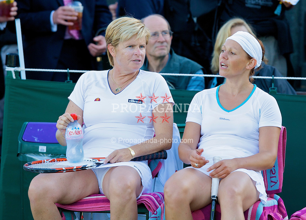 LONDON, ENGLAND - Wednesday, July 2, 2008: Hana Mandlikova (AUS) and Sabine Appelmans (BEL) during their Ladies' Invitation Doubles match on day nine of the Wimbledon Lawn Tennis Championships at the All England Lawn Tennis and Croquet Club. (Photo by David Rawcliffe/Propaganda)
