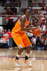 Dec 20, 2011; Stanford CA, USA;  Tennessee Lady Volunteers guard/forward Shekinna Stricklen (40) dribbles the ball against the Stanford Cardinal during the first half at Maples Pavilion.  Stanford defeated Tennessee 97-80. Mandatory Credit: Jason O. Watson-US PRESSWIRE