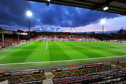 The Vitality Stadium at dusk before the Barclays Premier League match between Bournemouth and Southampton at the Goldsands Stadium, Bournemouth, England on 1 March 2016. Photo by Graham Hunt.
