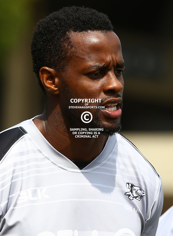 DURBAN, SOUTH AFRICA, 8 September, 2016 - Wandile Mjekevu during The Cell C Sharks training session at Growthpoint Kings Park in Durban, South Africa. (Photo by Steve Haag)<br /> <br /> images for social media must have consent from Steve Haag