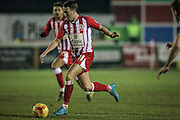 Sean McConville (Accrington Stanley) runs with the ball during the Sky Bet League 2 match between Accrington Stanley and Hartlepool United at the Fraser Eagle Stadium, Accrington, England on 19 January 2016. Photo by Mark P Doherty.