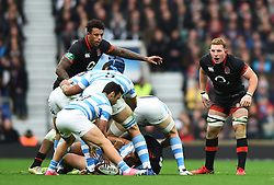 November 11, 2017 - London, England, United Kingdom - England's Sam Underhill shouts to his team mates during Old Mutual Wealth Series between England against Argentina at Twickenham stadium , London on 11 Nov 2017  (Credit Image: © Kieran Galvin/NurPhoto via ZUMA Press)