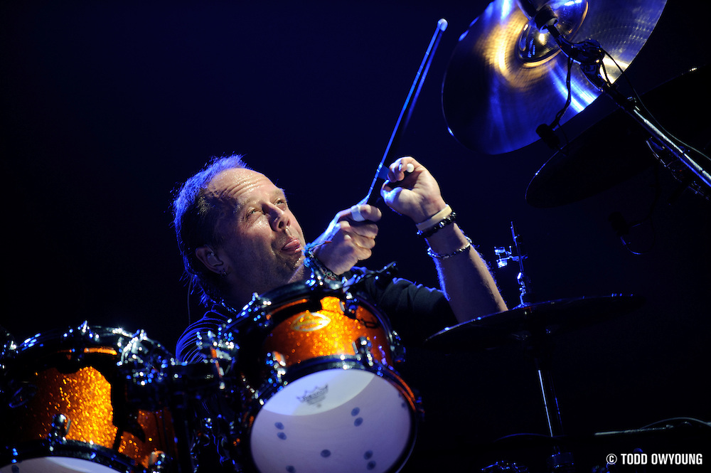 Drummer Lars Ulrich of pioneering heavy metal band Metallica photographed on November 17, 2008.