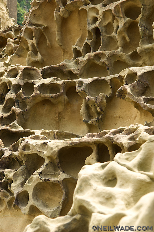 Odd sandstone erosion on Taiwan's East Coast.