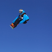 Antoine Truchon, Canada, in action during the Snowboard Slopestyle Men's competition at Snow Park, New Zealand during the Winter Games. Wanaka, New Zealand, 21st August 2011. Photo Tim Clayton
