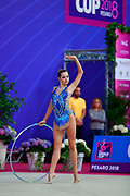 Hudis Veronika during the qualification of the hoop at the Pesaro World Cup 2018.<br />