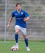 Rasmus Suhr Petersen (Holbæk B&I) under kampen i 2. Division mellem Holbæk B&I og FC Helsingør den 20. oktober 2019 i Holbæk Sportsby (Foto: Claus Birch).