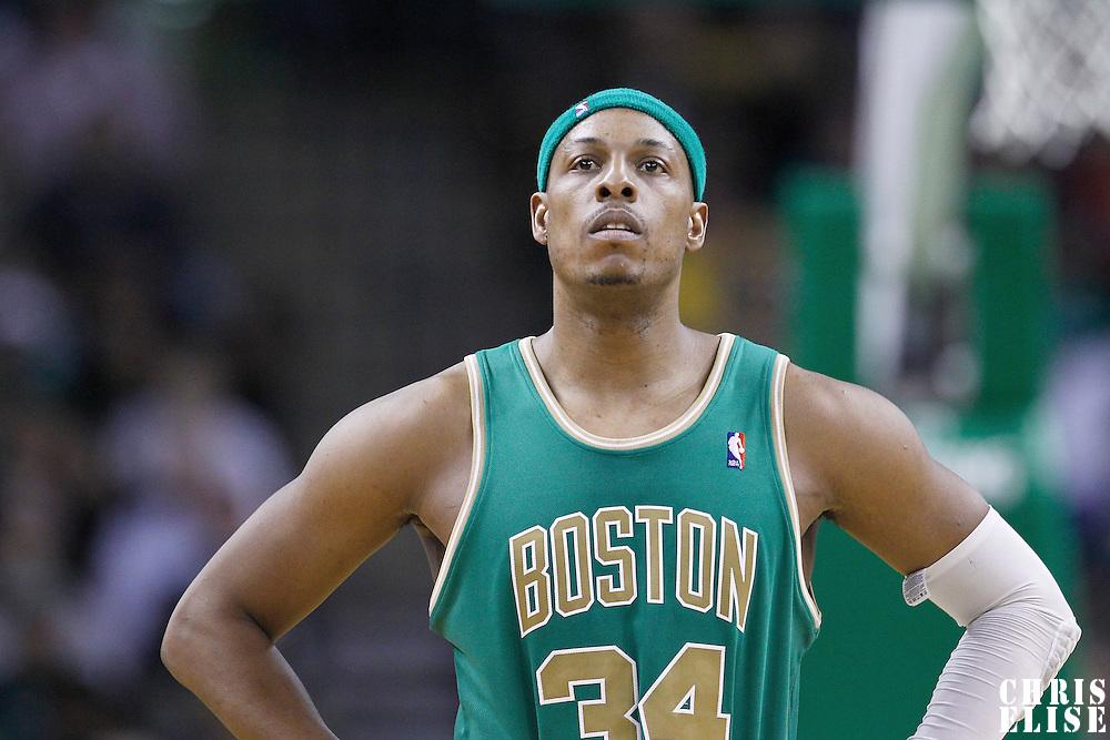 09 March 2012: Boston Celtics small forward Paul Pierce (34) is seen during the Boston Celtics 104-86 victory over the Portland Trail Blazers at the TD Banknorth Garden, Boston, Massachusetts, USA.