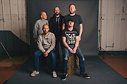 Portraits of Mogwai taken backstage at Atlantic Studios in Ásbrú for ATP Iceland 2014 in Keflavík, Iceland. July 10, 2014. Copyright © 2014 Matthew Eisman. All Rights Reserved