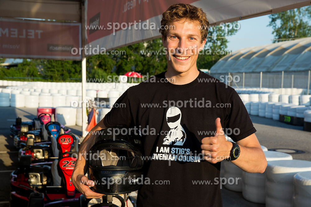 Jurij Tepes during Karting competition of Slovenian Ski jumping Men and Women Teams,  on June 5, 2015 in Pro Karting centre, Ljubljana, Slovenia. Photo by Vid Ponikvar / Sportida