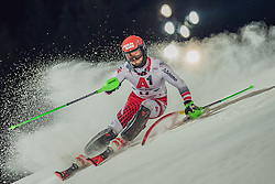 "29.01.2019, Planai, Schladming, AUT, FIS Weltcup Ski Alpin, Slalom, Herren, 1. Lauf, im Bild Christian Hirschbuehl (AUT) // Christian Hirschbuehl of Austria in action during his 1st run of men's Slalom ""the Nightrace"" of FIS ski alpine world cup at the Planai in Schladming, Austria on 2019/01/29. EXPA Pictures © 2019, PhotoCredit: EXPA/ Dominik Angerer"