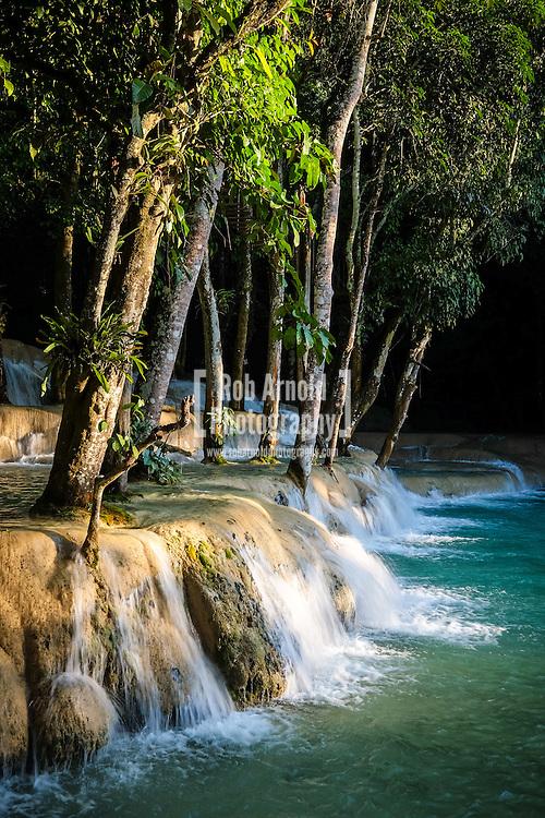 The waterfall of Tad Sae near Luang Prabang, Laos