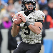 Quarterback Angel Santiago, Army, in action during the Army Black Knights Vs Air Force Falcons, College Football match at Michie Stadium, West Point. New York. Air Force won the game 23-6. West Point, New York, USA. 1st November 2014. Photo Tim Clayton