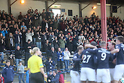 Fans in the South Enclosure applaud as Christian Nade celebrates after opening the scoring - Dundee v Greenock Morton, SPFL Championship at <br /> Dens Park<br /> <br />  - &copy; David Young - www.davidyoungphoto.co.uk - email: davidyoungphoto@gmail.com