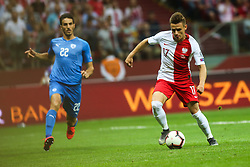 June 10, 2019 - Warsaw, Poland - Damian Kadzior of Poland and  Elhamed (ISR) during the UEFA Euro 2020 qualifier Group G football match Poland against Israel on June 10, 2019 in Warsaw, Poland. (Credit Image: © Foto Olimpik/NurPhoto via ZUMA Press)