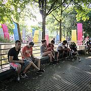 Chasse au Pokemon, début septembre - Parc de la Villette, 19e arr. de Paris