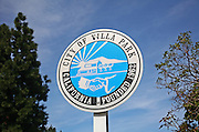 City of Villa Park Signage