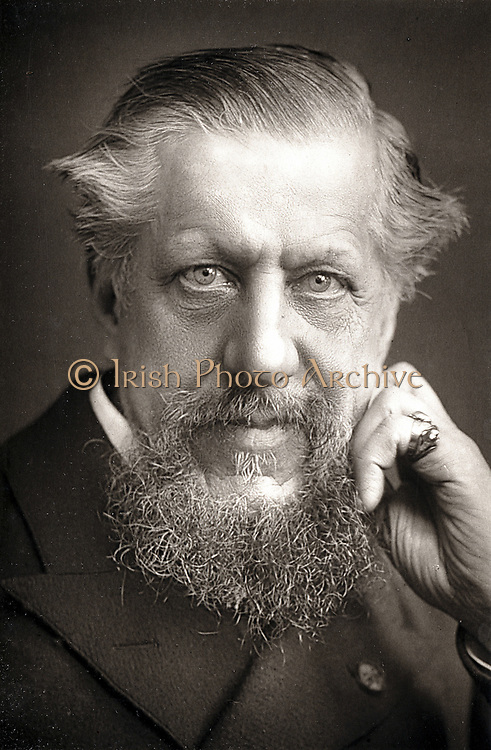 Edwin Arnold (1832-1904) British orientalist, poet and journalist. Leader writer for 'The Daily Telegraph' 1861: Chief editor 1873. Photograph published London c1890. Woodburytype.