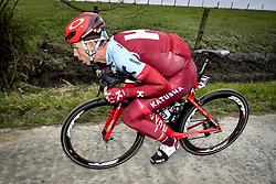 March 23, 2018 - Harelbeke, BELGIUM - German Tony Martin of Katusha-Alpecin pictured in action during the 61st edition of the 'E3 Prijs Vlaanderen Harelbeke' cycling race, 206,5 km from and to Harelbeke, Friday 23 March 2018. BELGA PHOTO DIRK WAEM (Credit Image: © Dirk Waem/Belga via ZUMA Press)