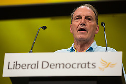 Bournemouth, UK. 15 September, 2019. Sir Simon Hughes speaks on the Stop Brexit motion during the Liberal Democrat Autumn Conference. Following a vote won by an overwhelming majority, the Liberal Democrats pledged to cancel Brexit if they win power at the next general election. This marks a shift in policy from their previous backing for a People's Vote. Credit: Mark Kerrison/Alamy Live News