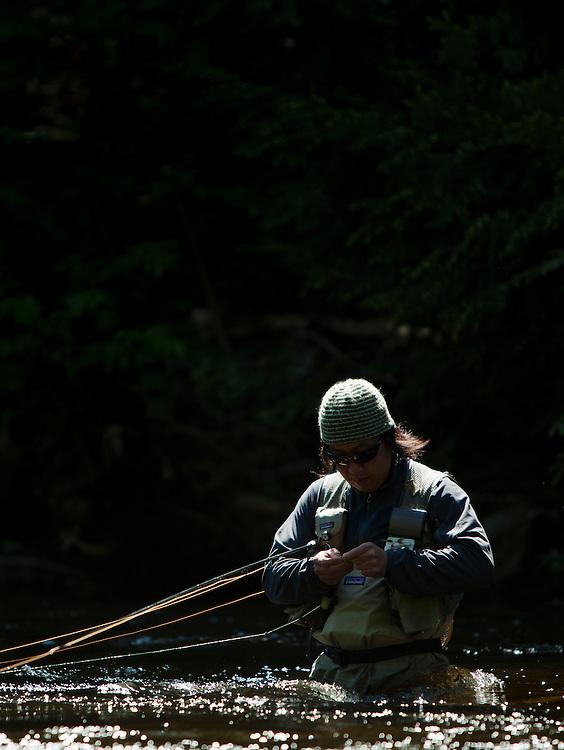 Guide Matt Horner on the West Branch of the Ausable, Adirondacks, New York