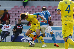 April 8, 2018 - Naples, Italy - Dries Mertens (SSC Napoli)..during the Italian Serie A football SSC Napoli v Chievo Verona at S. Paolo Stadium..in Naples on April 08, 2018  (Credit Image: © Paolo Manzo/NurPhoto via ZUMA Press)