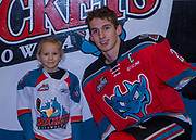 KELOWNA, CANADA - DECEMBER 02:  Pepsi Player of the Game with Cal Foote #25 of the Kelowna Rockets at the Kelowna Rockets game on December 02, 2017 at Prospera Place in Kelowna, British Columbia, Canada.  (Photo By Cindy Rogers/Nyasa Photography,  *** Local Caption ***