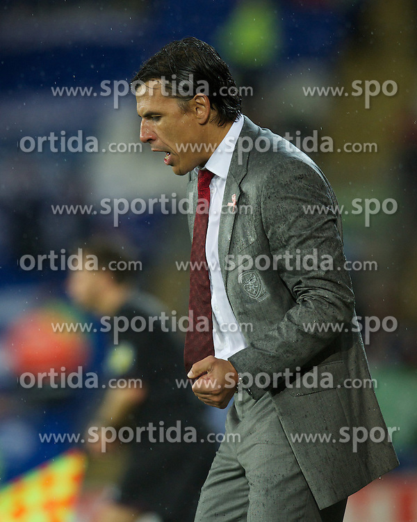 12.10.2012, Cardiff City Stadium, Cardiff, WAL, FIFA WM Qualifikation, Wales vs Schottland, im Bild Wales' manager Chris Coleman celebrates during during FIFA World Cup Qualifier Match between Wales and Scotland at the Cardiff City Stadium, Cardiff, Wales on 2012/10/12. EXPA Pictures © 2012, PhotoCredit: EXPA/ Propagandaphoto/ David Rawcliffe..***** ATTENTION - OUT OF ENG, GBR, UK *****