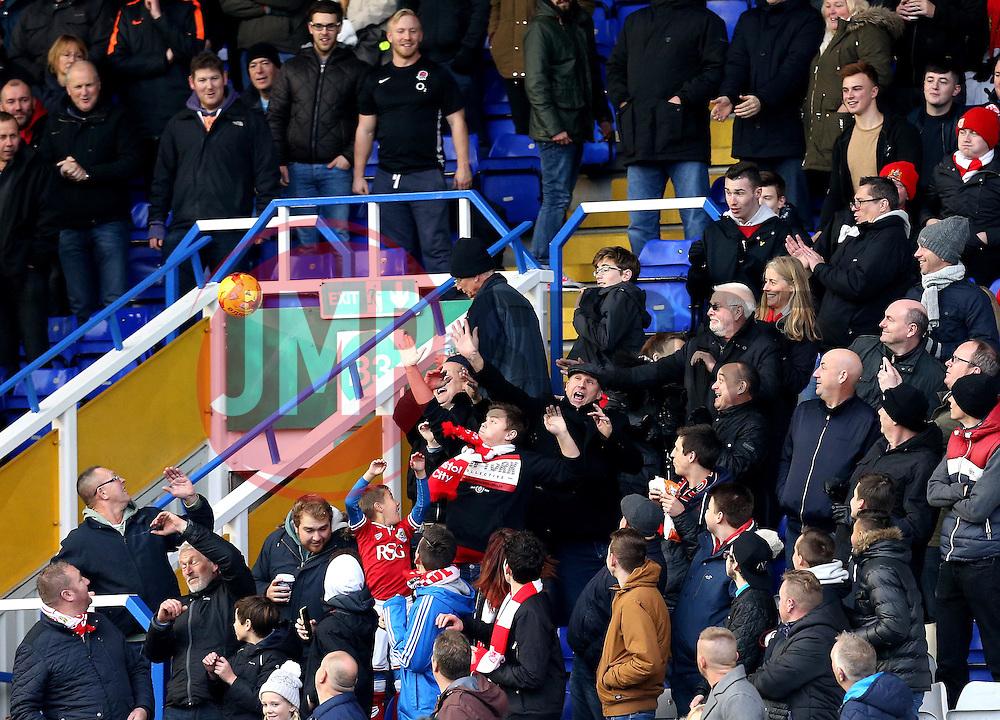 Bristol City fans at Birmingham City - Mandatory by-line: Robbie Stephenson/JMP - 19/11/2016 - FOOTBALL - St Andrew's Stadium - Birmingham, England - Birmingham City v Bristol City - Sky Bet Championship