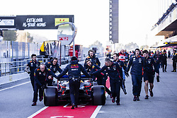 February 18, 2019 - Barcelona, Barcelona, Spain - Aston Martin Red Bull Racing - Honda RB15 team at pitlane during the Formula 1 2019 Pre-Season Tests at Circuit de Barcelona - Catalunya in Montmelo, Spain on February 18, 2019. (Credit Image: © Xavier Bonilla/NurPhoto via ZUMA Press)